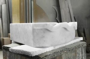 Mauro Marmi_Lavabo in marmo Bianco Carrara_04