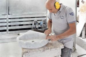 Mauro Marmi_Lavabo in marmo Bianco Carrara_06